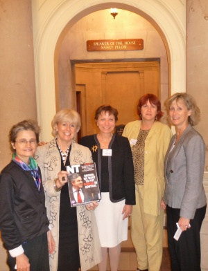 On Capitol Hill, Washington, with Ann Keen MP and American nursing leaders